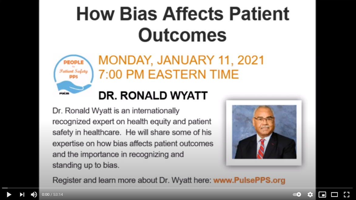 How Bias Affects Patient Outcomes January 2021
