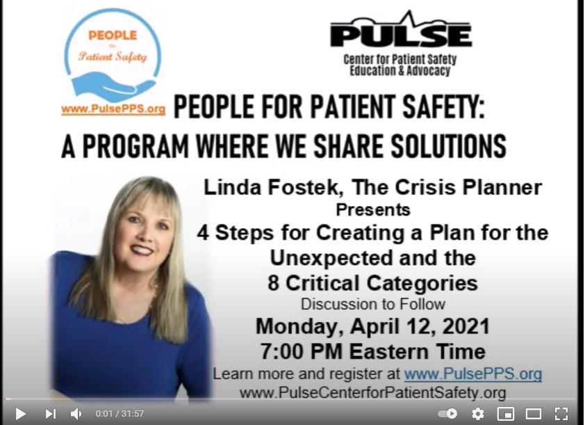 Linda Fostek, The Crisis Planner April 2021
