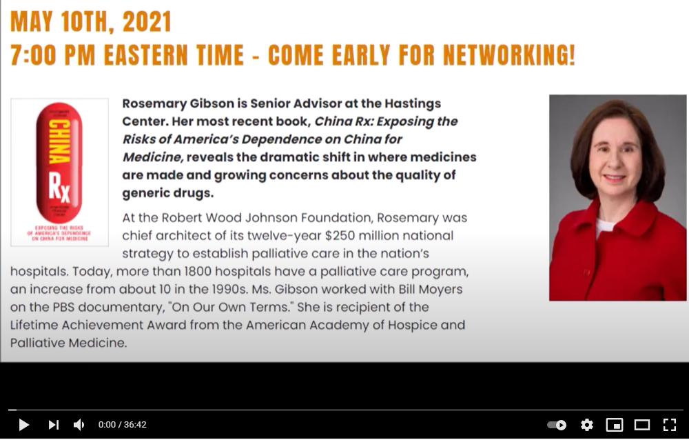 Rosemary Gibson, China RX, May 2021